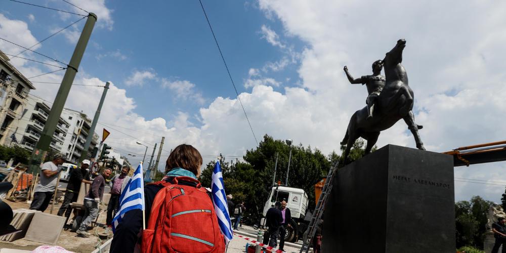 Επιτέλους! Ο έφιππος Μέγας Αλέξανδρος στην Αθήνα (εικόνες & βίντεο)