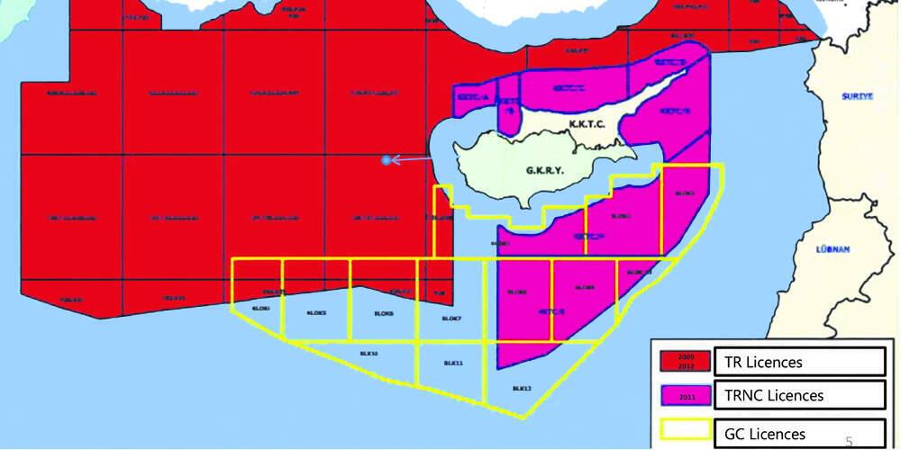 Οι Τούρκοι εξαφάνισαν ελληνική υφαλοκρηπίδα, κυπριακή ΑΟΖ, Καστελόριζο (χάρτης)