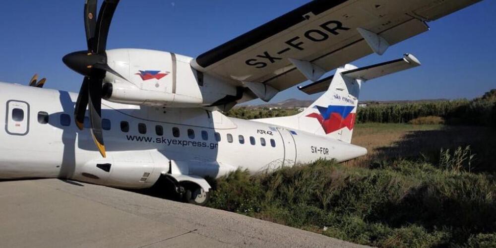 Αεροπορικό ατύχημα στην Νάξο – Κλειστό το αεροδρόμιο (εικόνες)